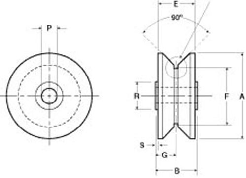 roller diameter: Osborn Load Runners HPVA-76-1 V-Groove Cam Followers