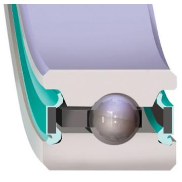 maximum rpm: Kaydon Bearings JHA10XL0 Four-Point Contact Bearings